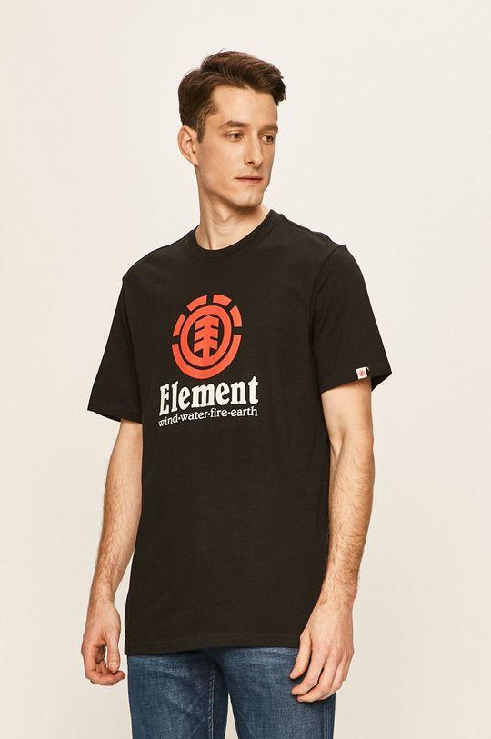 czarny Element - T-shirt Męski
