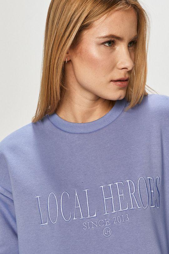fialová Local Heroes - Mikina