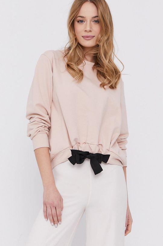 różowy Silvian Heach - Bluza bawełniana Damski