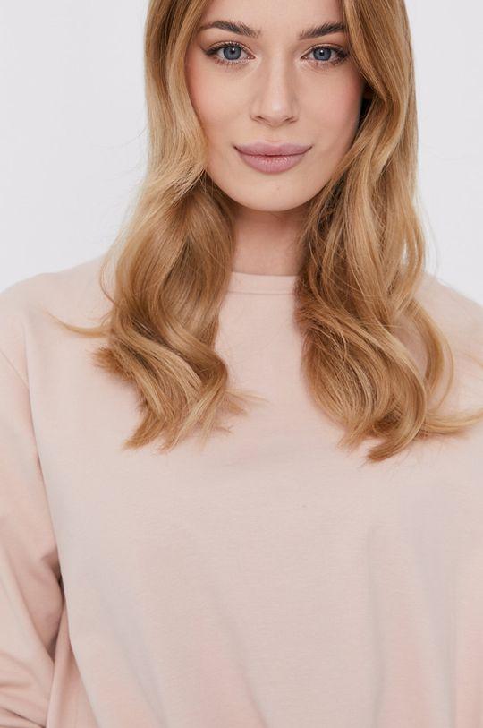 różowy Silvian Heach - Bluza bawełniana