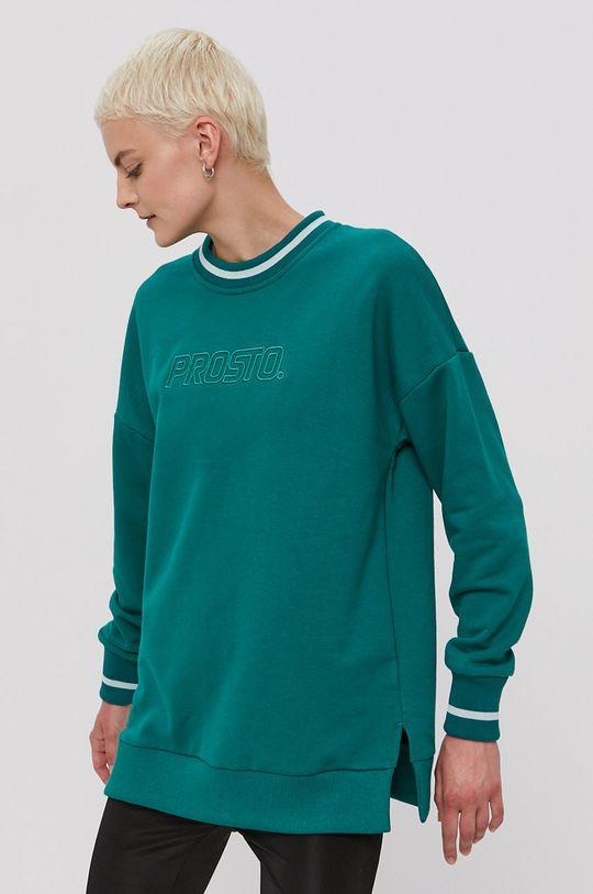 ciemny zielony Prosto - Bluza bawełniana Damski