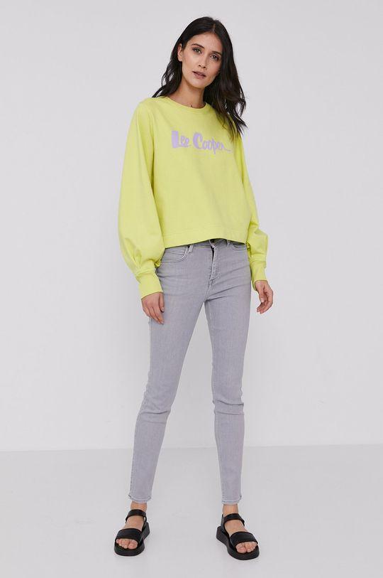 Lee Cooper - Bluza żółto - zielony