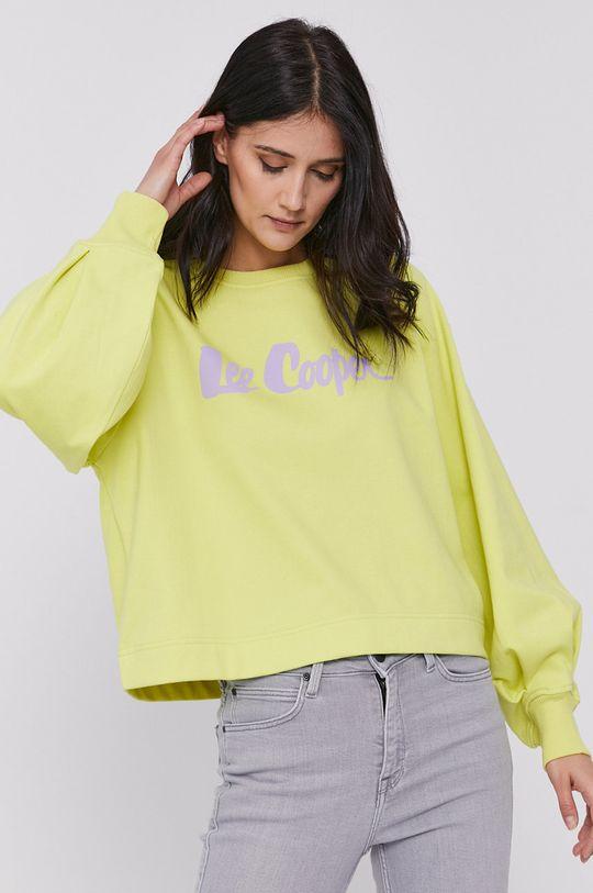 żółto - zielony Lee Cooper - Bluza
