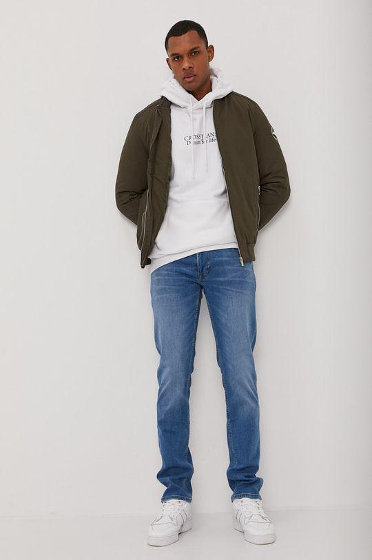 Cross Jeans - Bavlněná mikina bílá