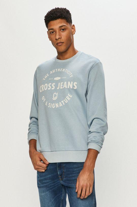 niebieski Cross Jeans - Bluza Męski