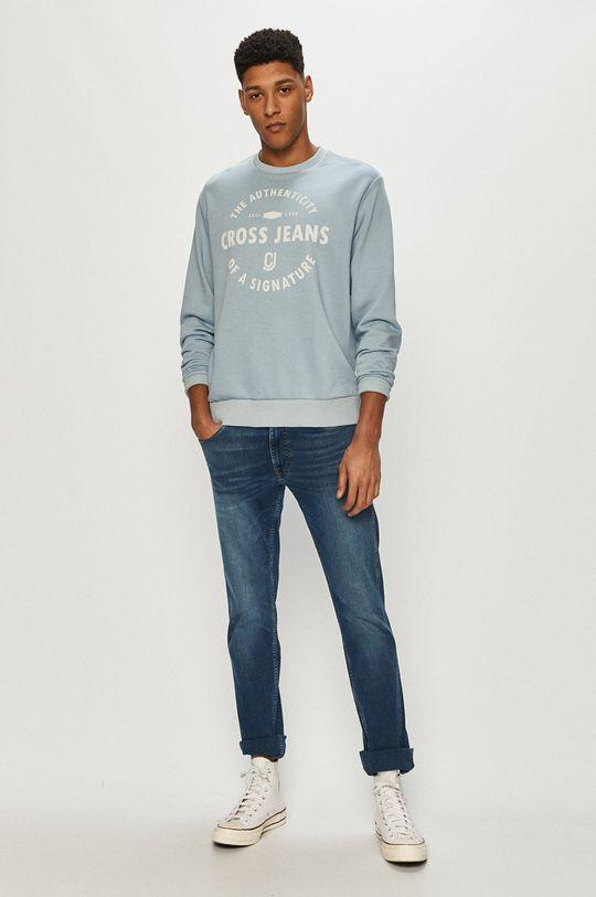 Cross Jeans - Bluza niebieski