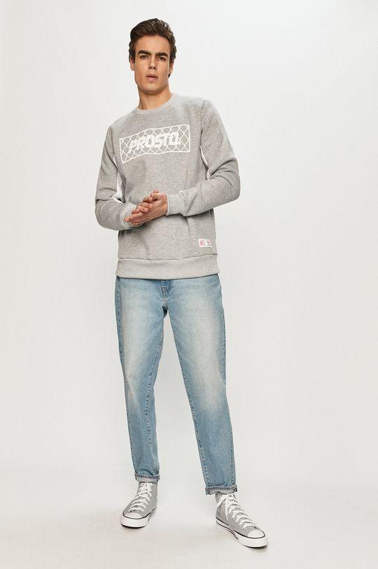 Prosto - Bluza bawełniana szary