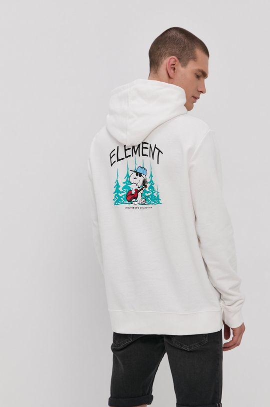 biela Element - Bavlnená mikina x Peanuts Pánsky