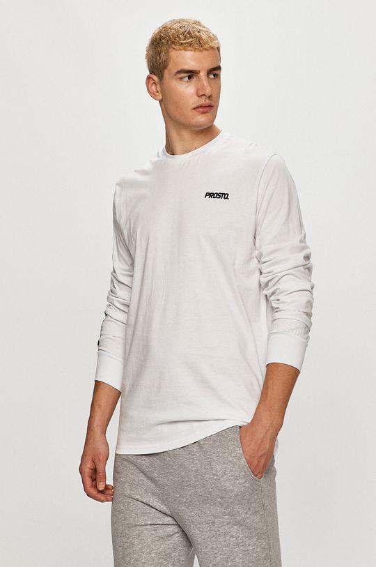 biały Prosto - Longsleeve Męski