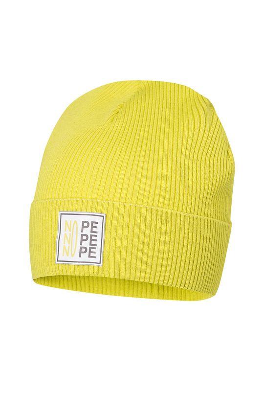 žlutě zelená Broel - Dětska čepice KRZYSZTOF Chlapecký