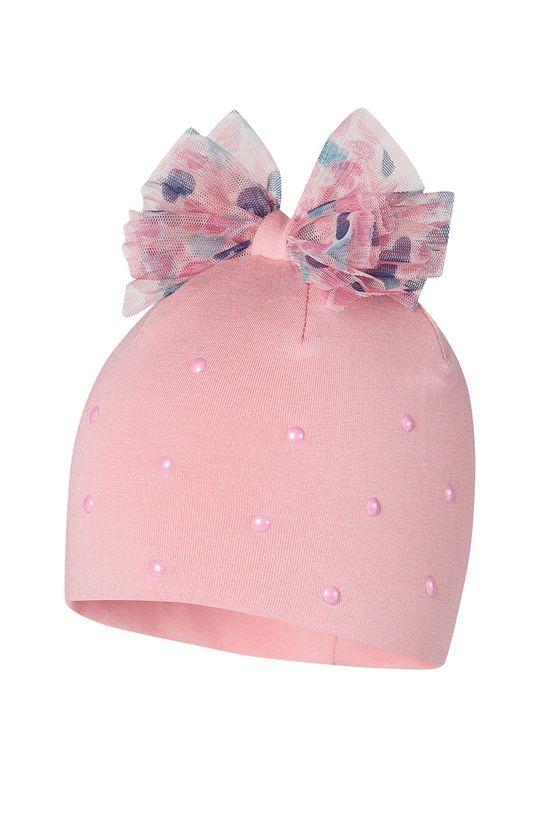 růžová Broel - Dětska čepice AGNIESZKA Dívčí