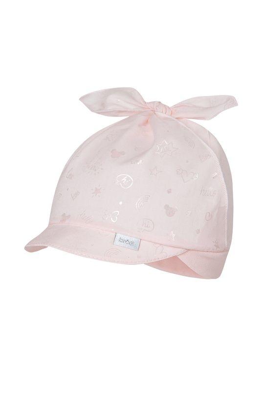 pastelowy różowy Broel - Czapka dziecięca Estera Dziewczęcy