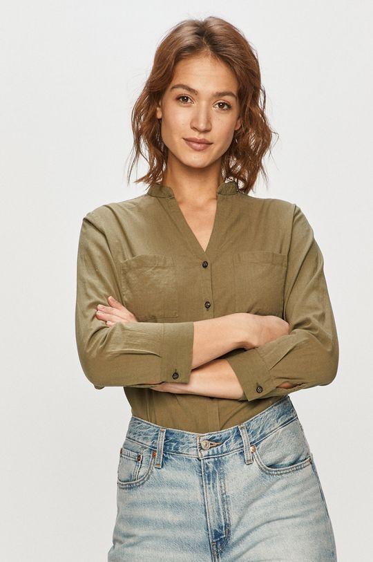 oliwkowy Cross Jeans - Koszula Damski