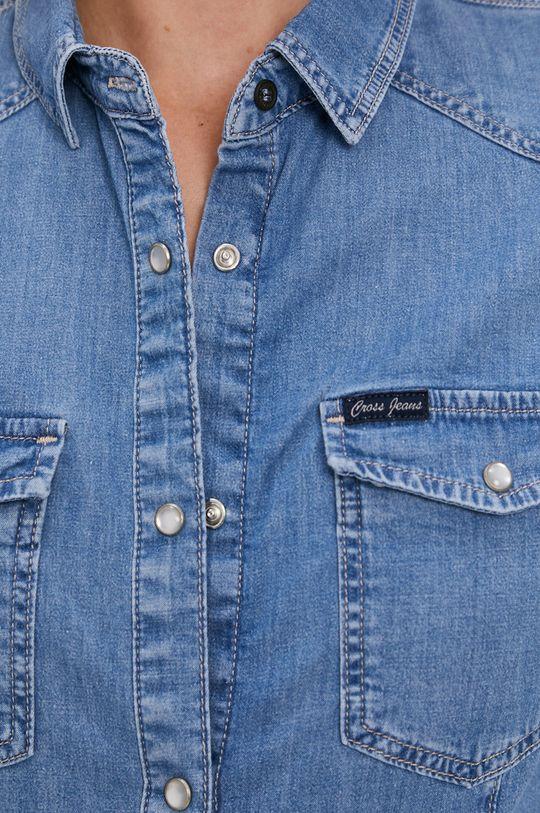 Cross Jeans - Bavlněné tričko modrá