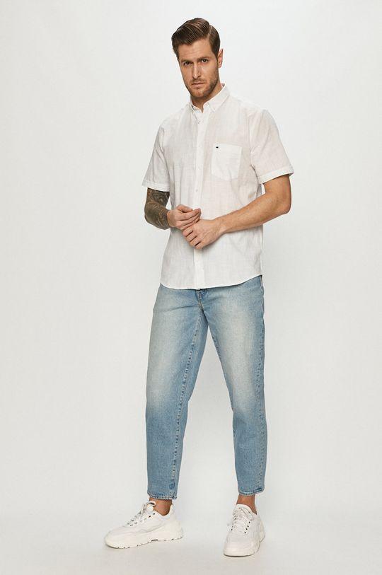 Cross Jeans - Koszula 70 % Bawełna, 30 % Len