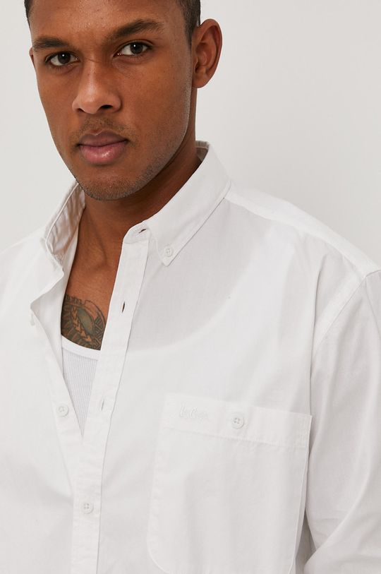 biały Lee Cooper - Koszula bawełniana Męski