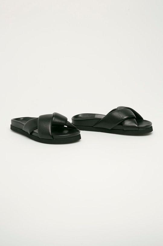 Liviana Conti - Kožené pantofle černá