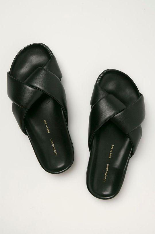 černá Liviana Conti - Kožené pantofle