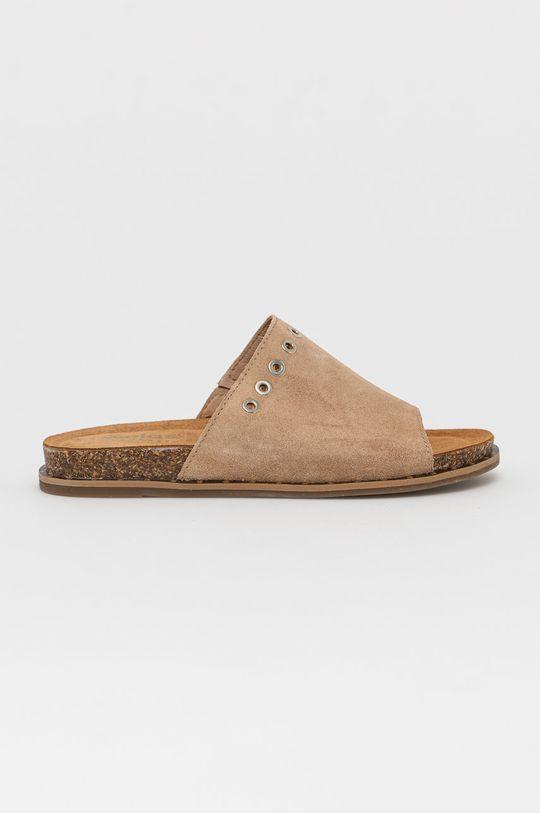 béžová Wojas - Kožené pantofle Dámský