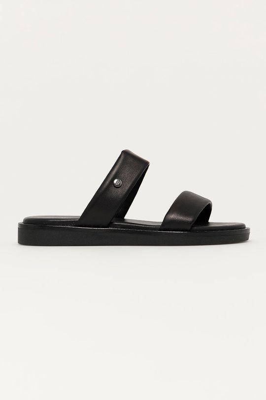 černá Wojas - Kožené pantofle Dámský