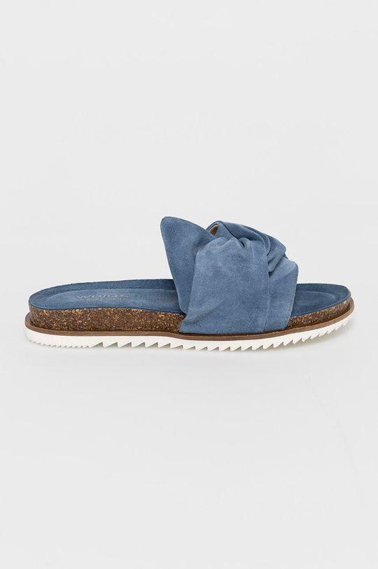 modrá Wojas - Semišové šľapky Dámsky