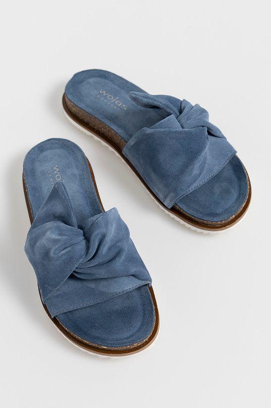 Wojas - Semišové šľapky modrá