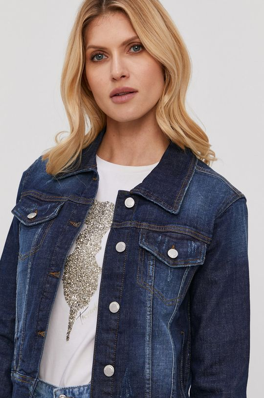 niebieski Silvian Heach - Kurtka jeansowa