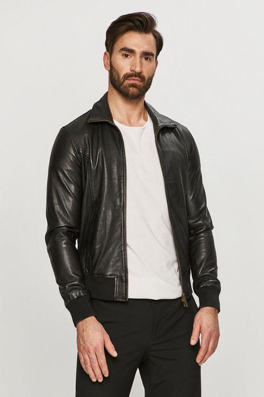 černá Bomboogie - Kožená bunda Pánský