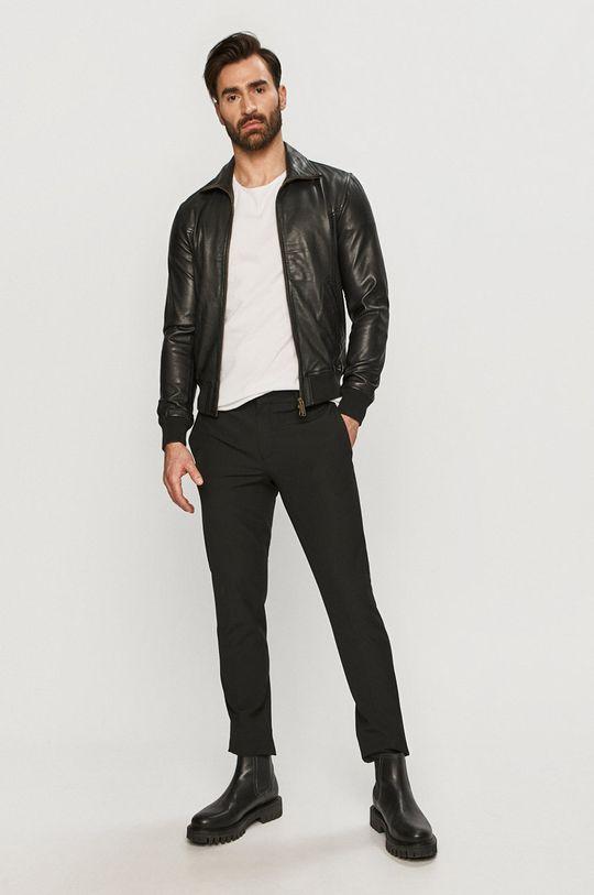 Bomboogie - Kožená bunda černá