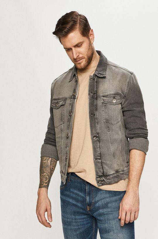 šedá Cross Jeans - Džínová bunda Pánský