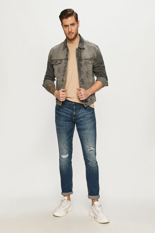 Cross Jeans - Džínová bunda šedá