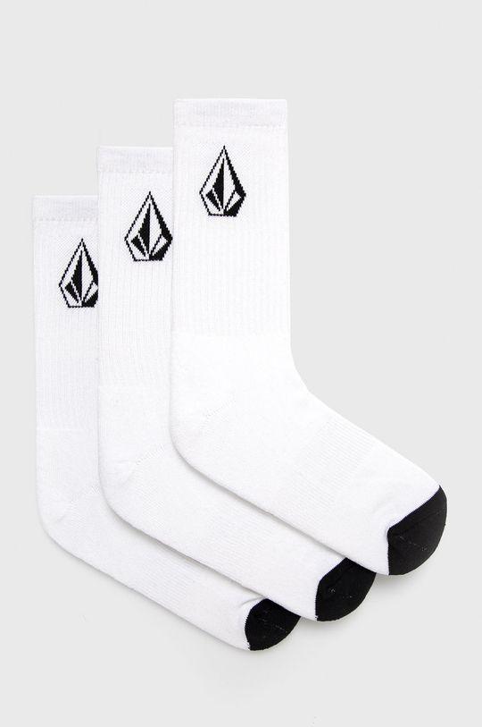 biela Volcom - Ponožky (3-pak) Pánsky