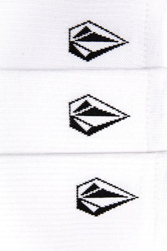 Volcom - Ponožky (3-pak) biela