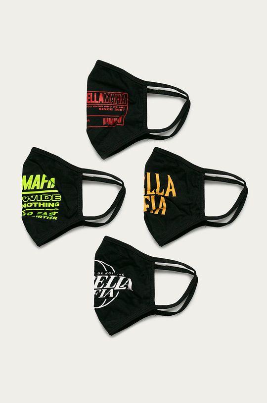 čierna LaBellaMafia - Ochranné rúško (4-pak) Unisex