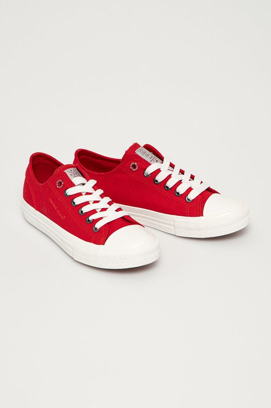 Cross Jeans - Tenisówki czerwony