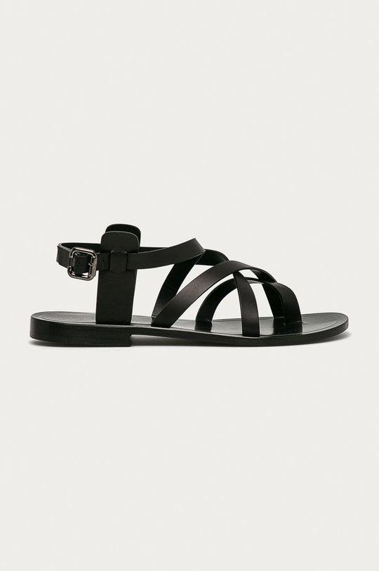 čierna Liviana Conti - Kožené sandále Dámsky