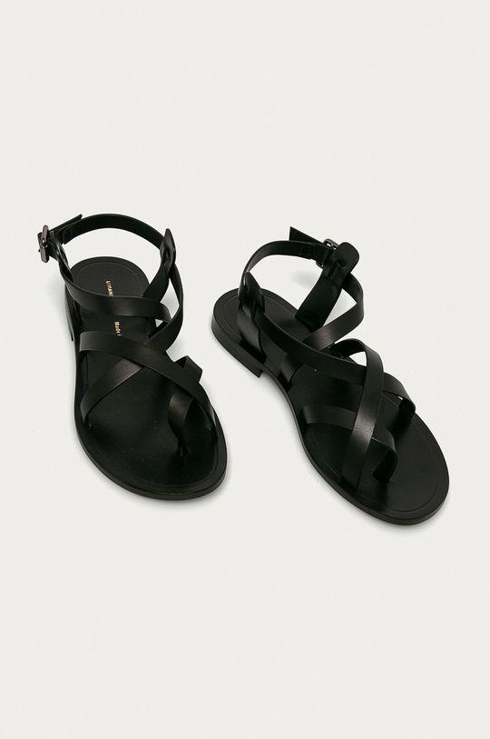 Liviana Conti - Kožené sandále čierna