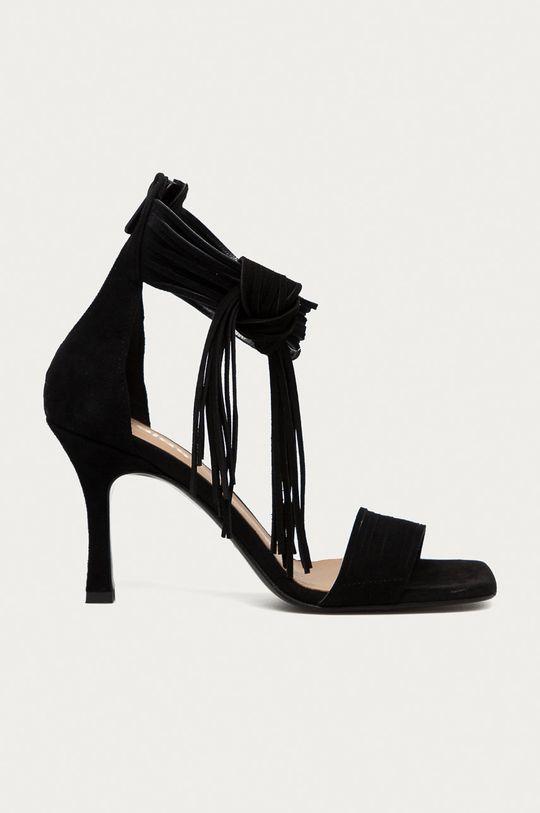 černá Wojas - Semišové sandály Dámský