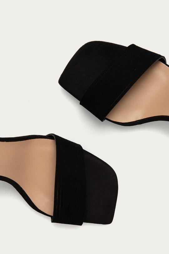 černá Wojas - Semišové sandály