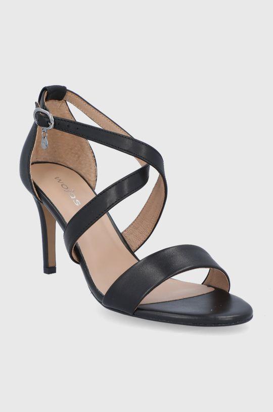 Wojas - Kožené sandále čierna