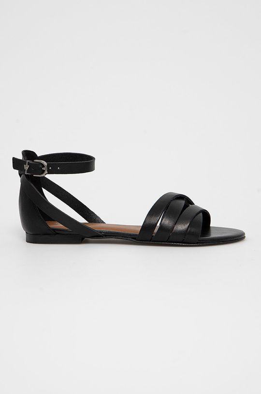 černá Wojas - Kožené sandály Dámský