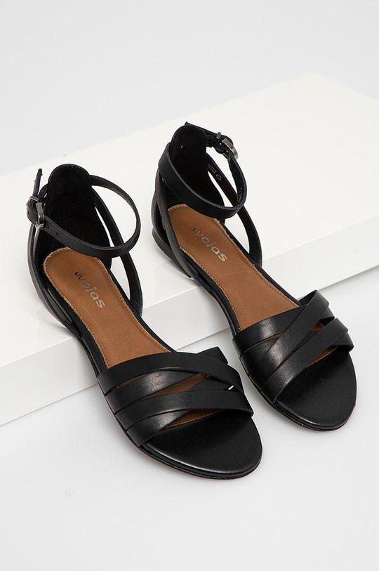 Wojas - Kožené sandály černá