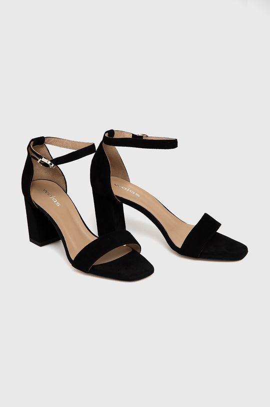 Wojas - Sandały zamszowe czarny