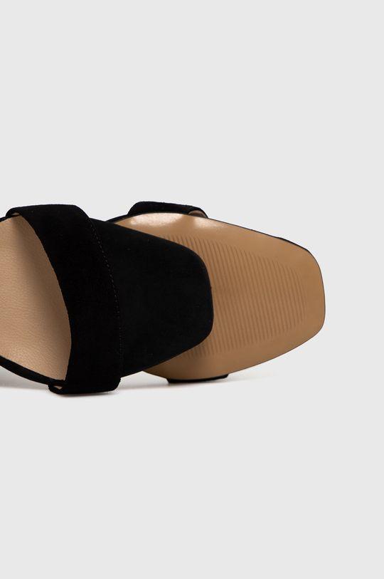 czarny Wojas - Sandały zamszowe
