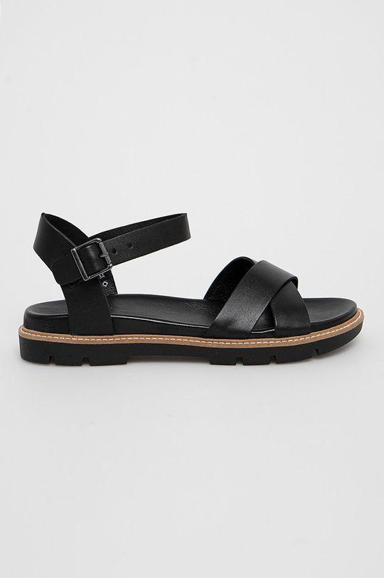 čierna Wojas - Kožené sandále Dámsky