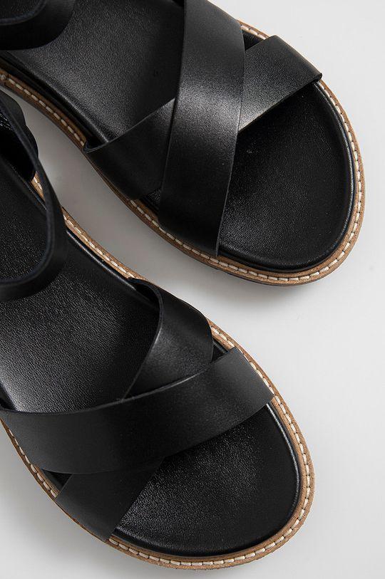 čierna Wojas - Kožené sandále
