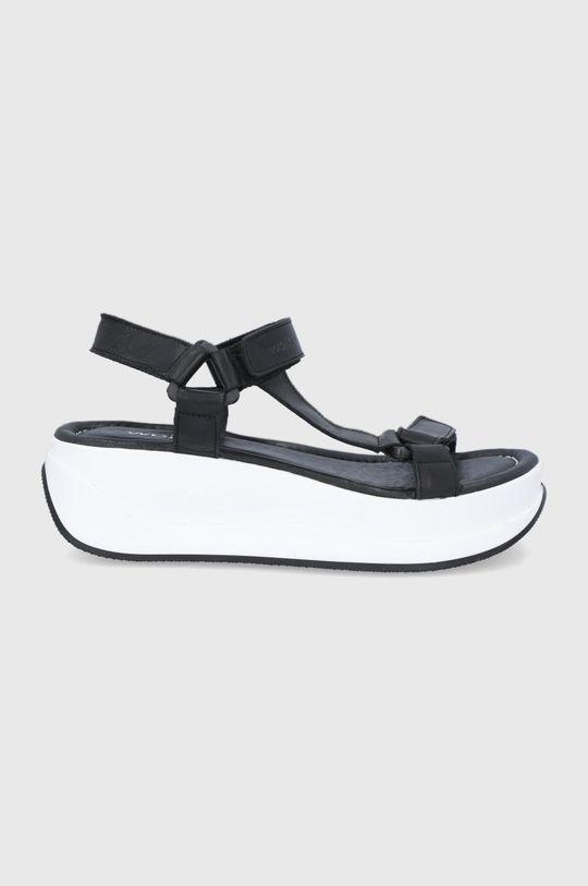 czarny Wojas - Sandały skórzane Damski