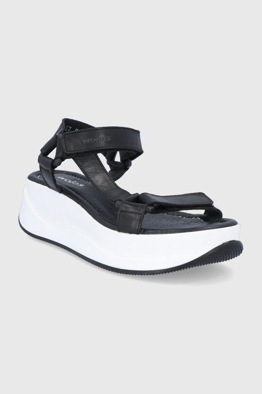 Wojas - Sandały skórzane czarny