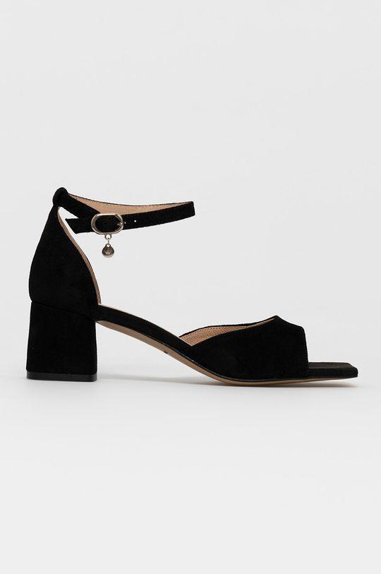 negru Wojas - Sandale din piele intoarsa De femei