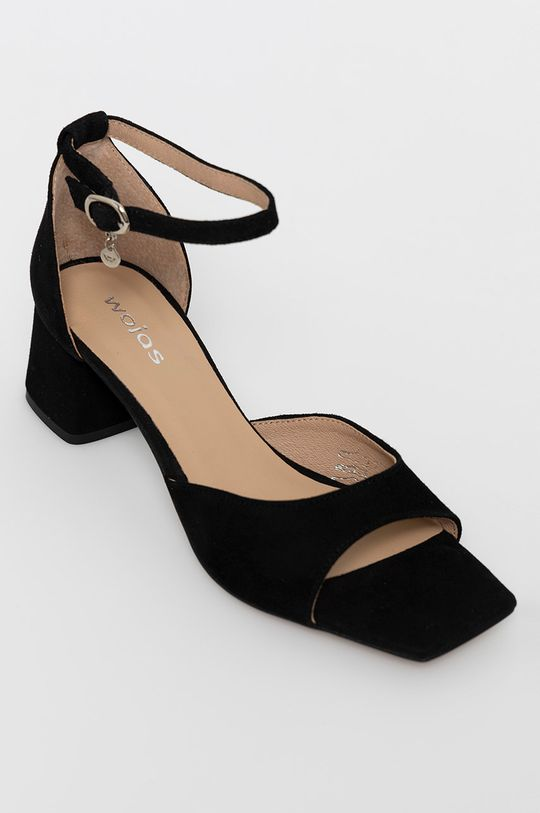 Wojas - Sandale din piele intoarsa negru